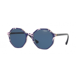 Vogue VO 5222S - 269680 Haut Bleu / Texte Rose Jaune